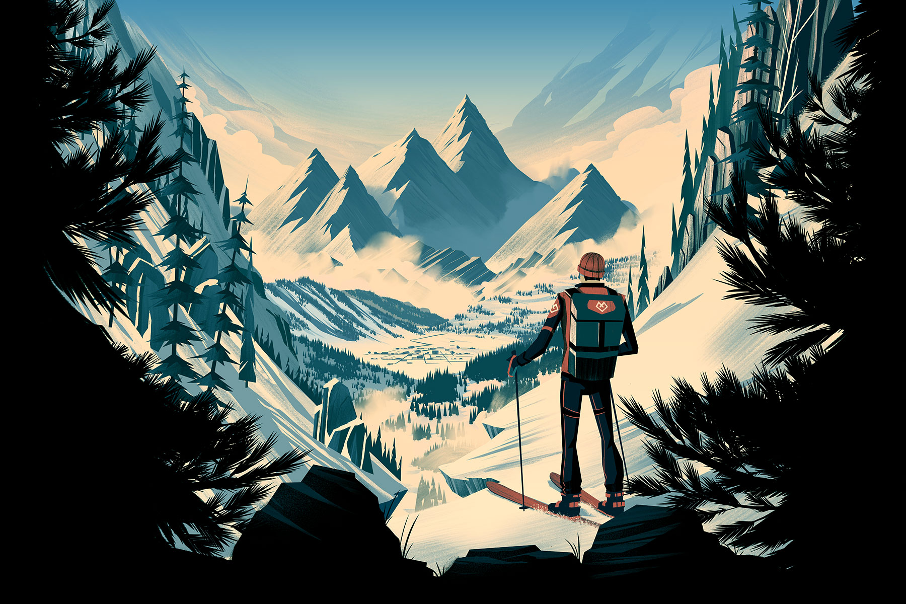 Alpine Skiing · Final Illustration
