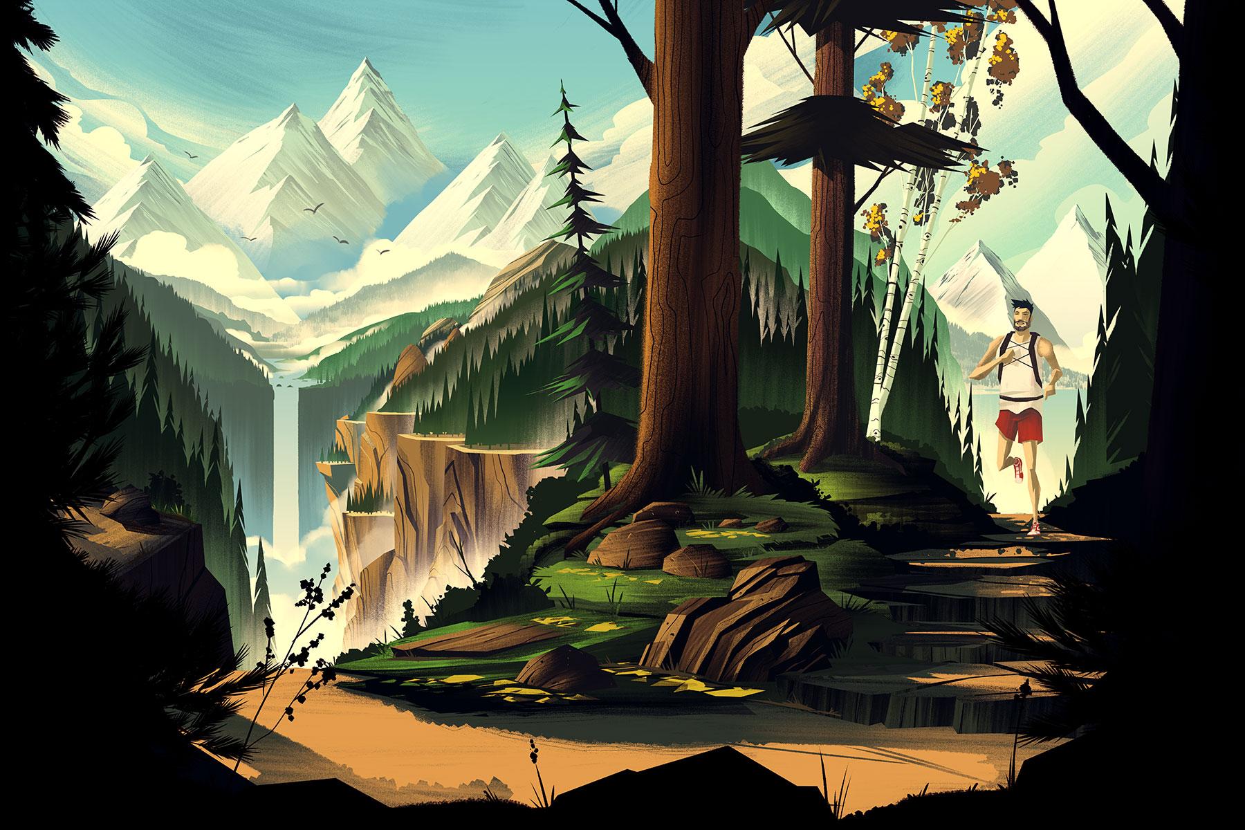 Trail Running · Final Illustration