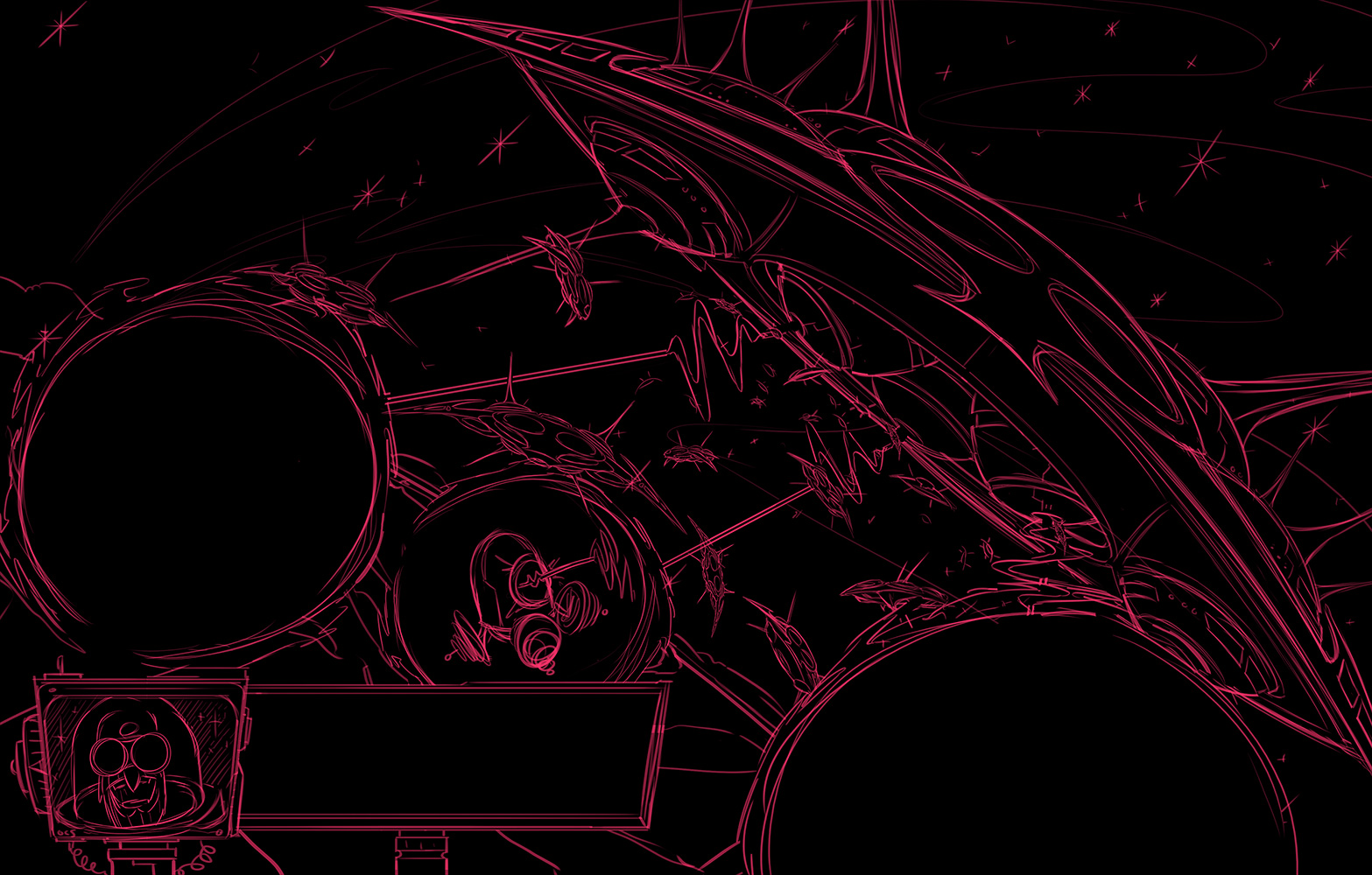 Robot Workshop ·   2014 ·  Invaders from Outer Space Sketch