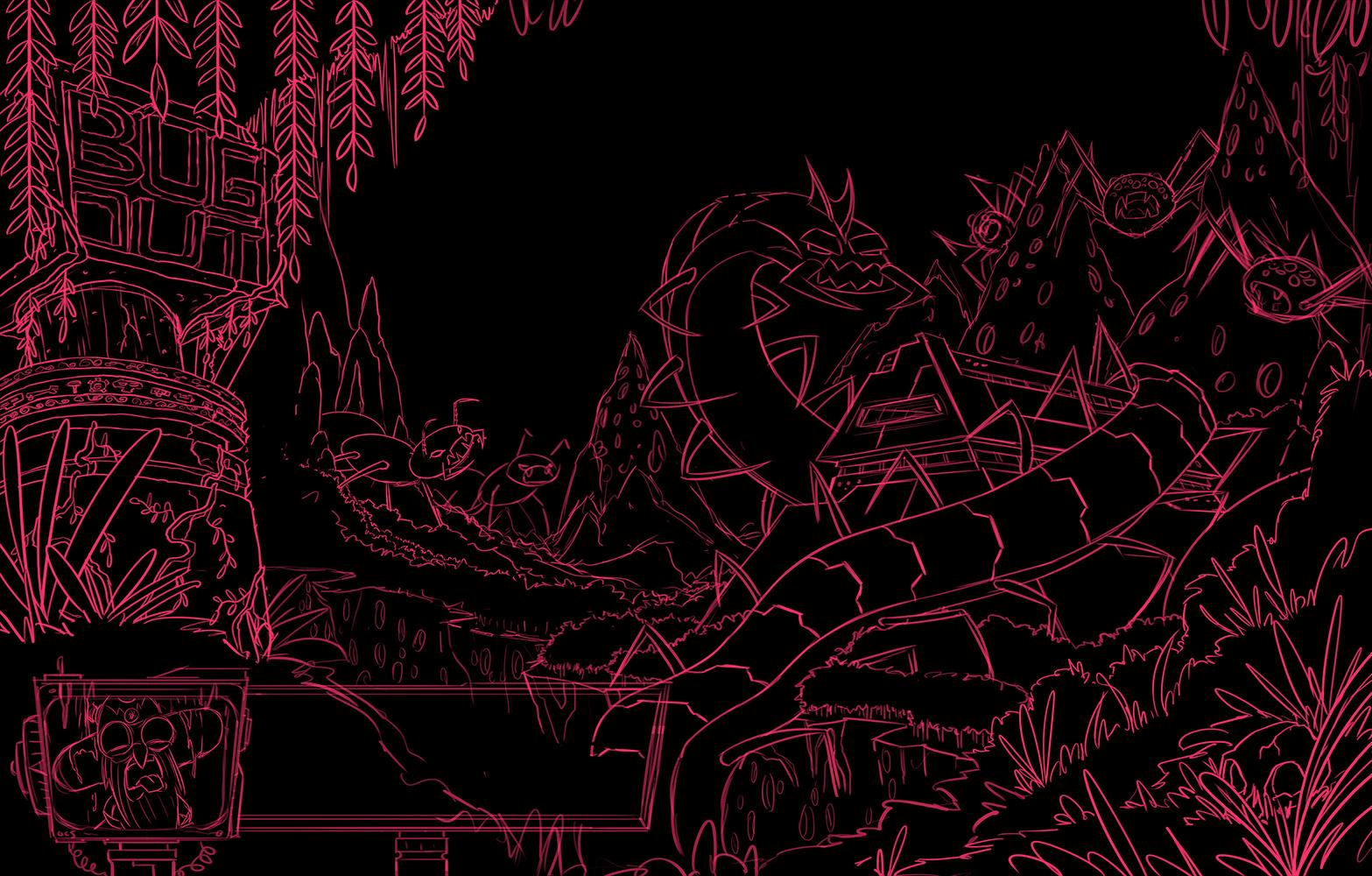 Robot Workshop ·   2014 ·  Bug Out Sketch