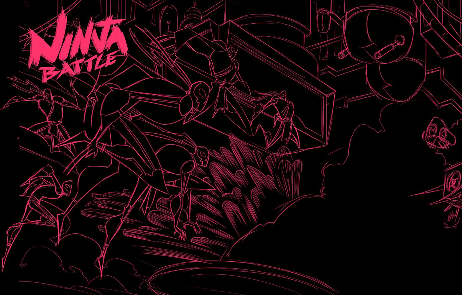 Robot Workshop ·   2014 ·  Ninja Battle Sketch