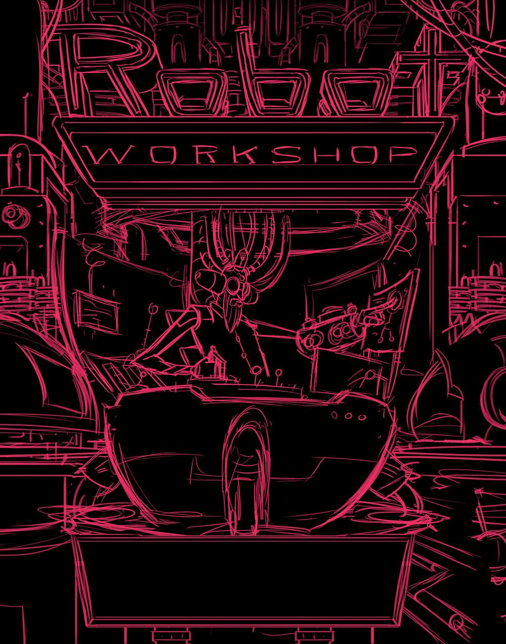 Robot Workshop ·   2014 ·  Title Page Sketch