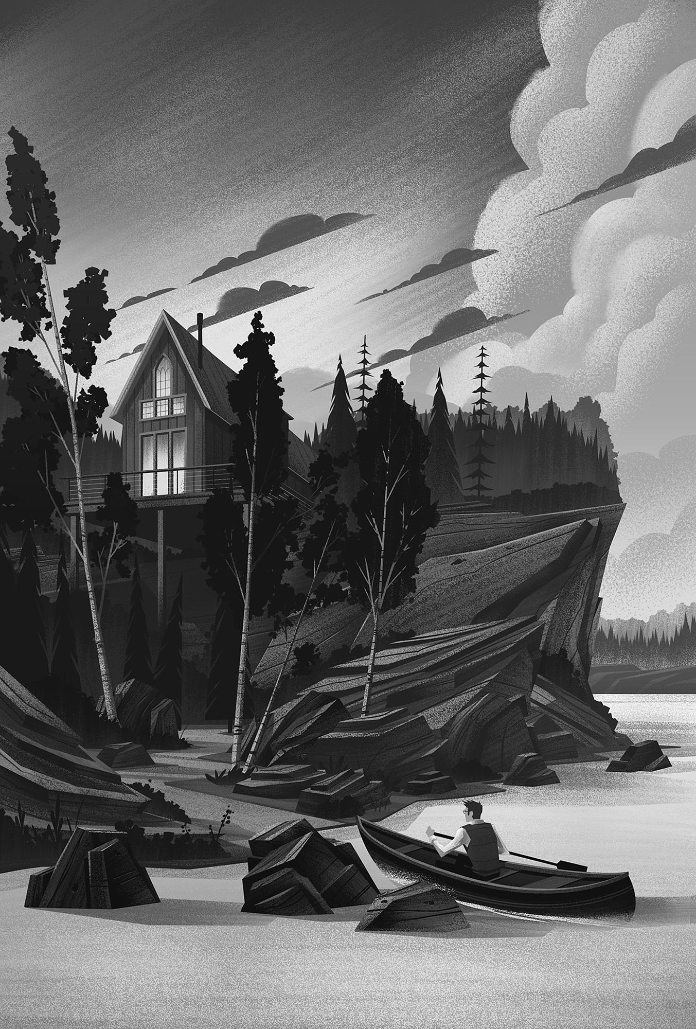The Cabin · Black & White Values