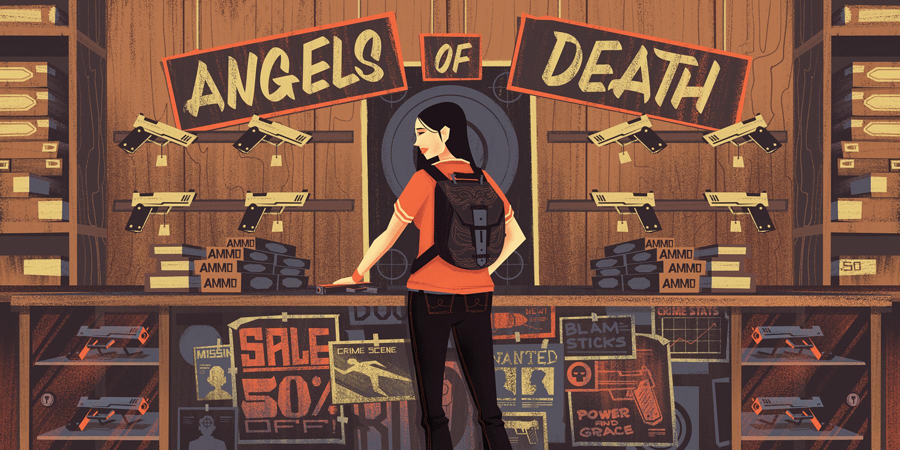 """""""Angels of Death"""" · 2014 · Final Illustration"""