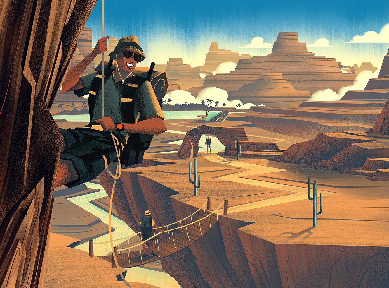 2014 LabelExpo Americas ·  High Desert Final Illustration