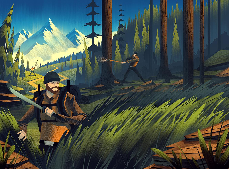 2014 LabelExpo Americas ·  Woodland Final Illustration