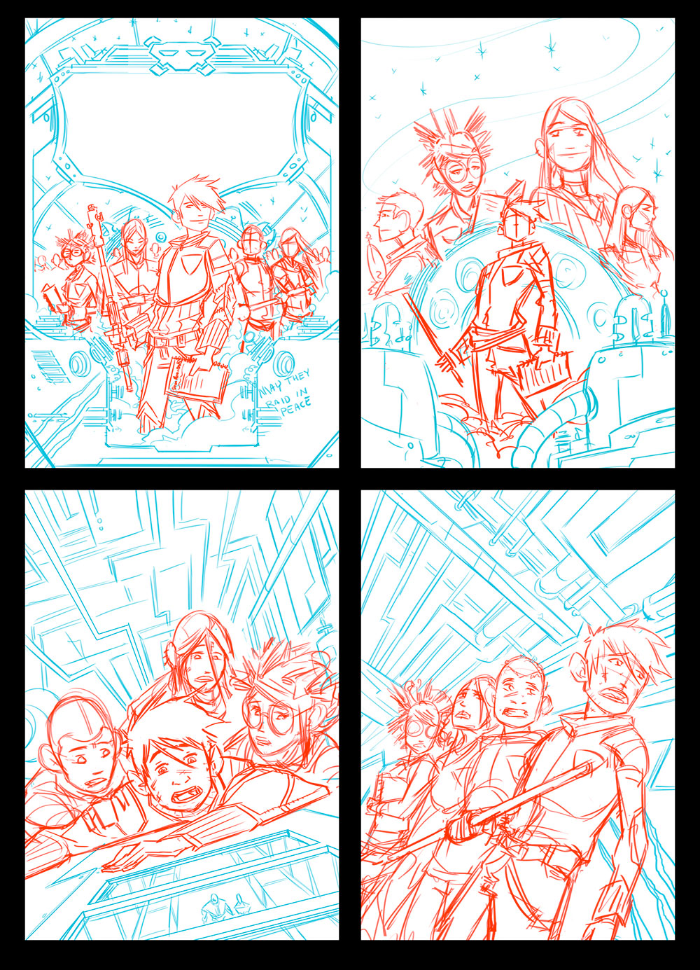 2014   ·   The Incredible Space Raiders From Space   · Rough Sketches