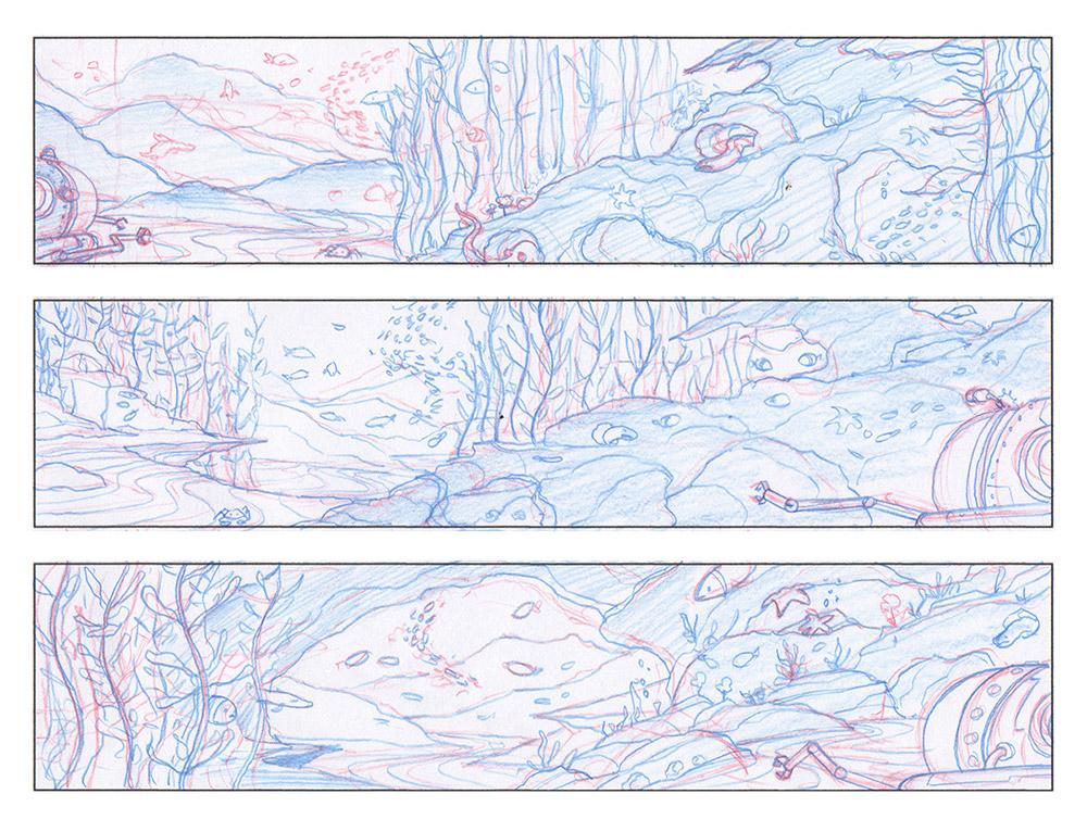 NHM · Seamobile · Pencil Sketches