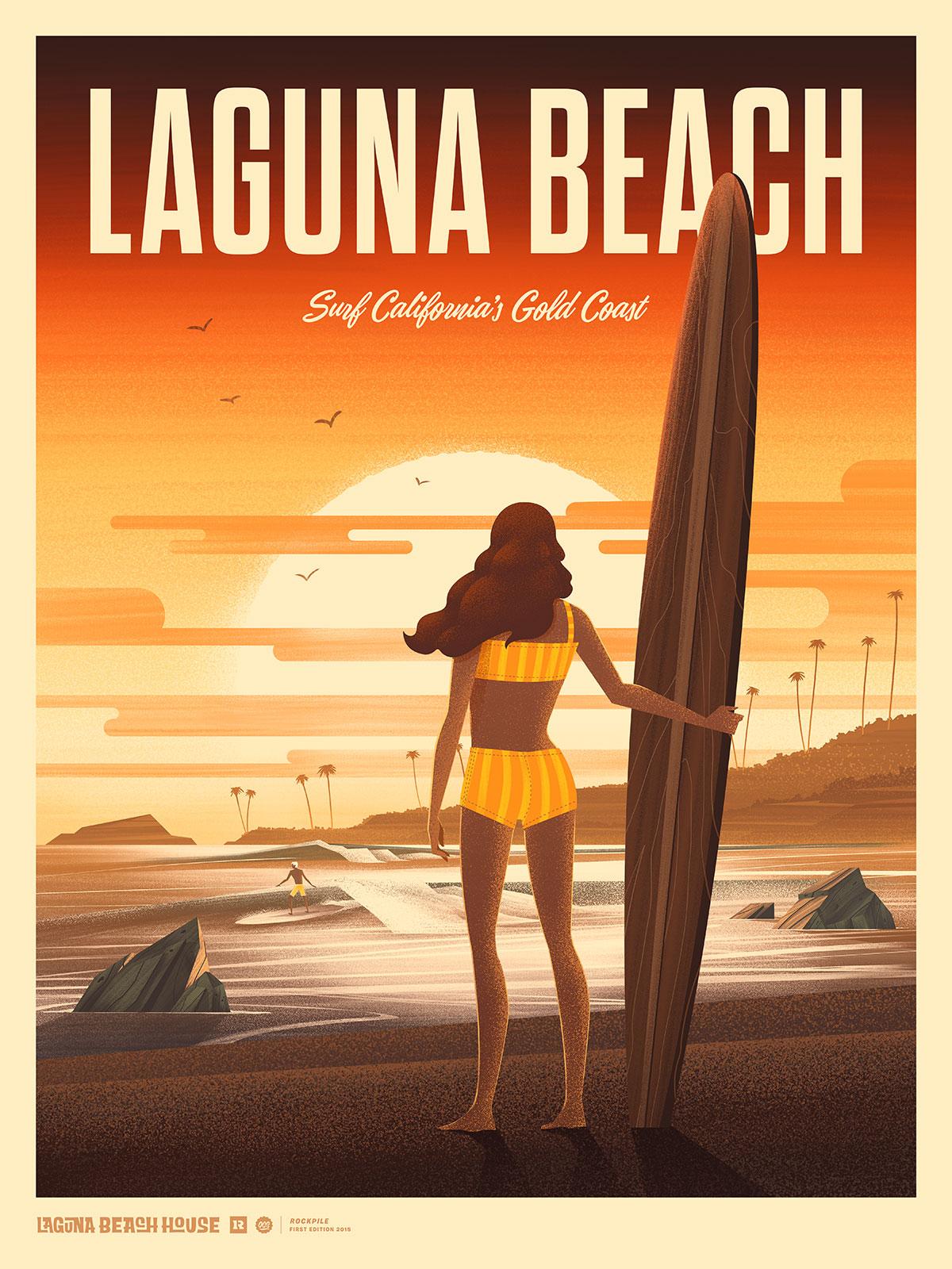 Laguna Beach House  · Limited Edition Print · Type by Alex Rinker