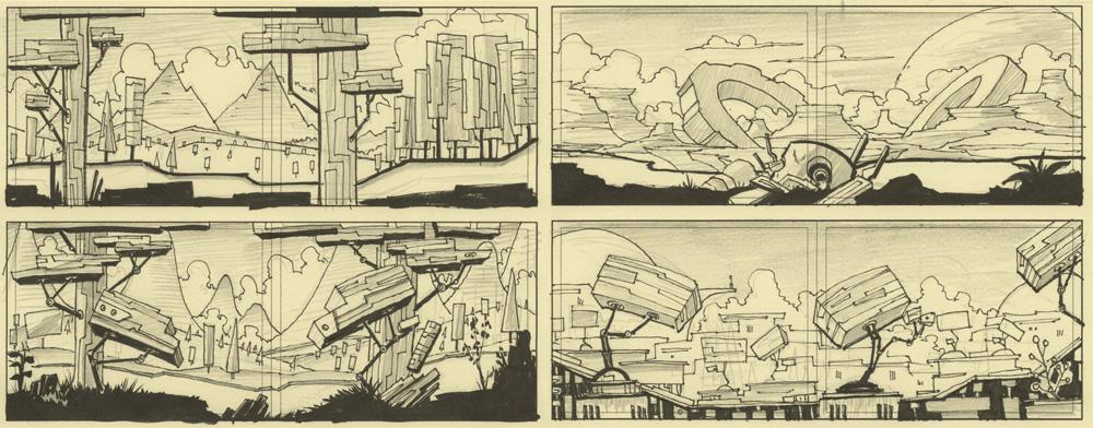 TinyBop  · Environment Sketches