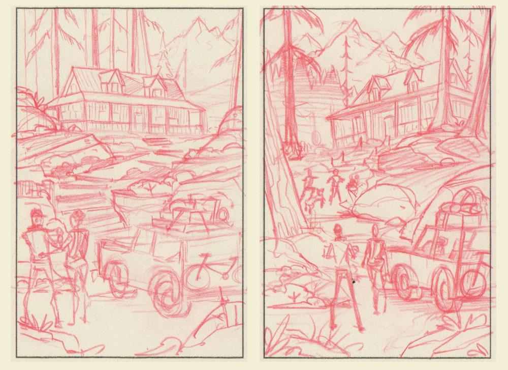 Tuff Shed · Thumbnail Sketches