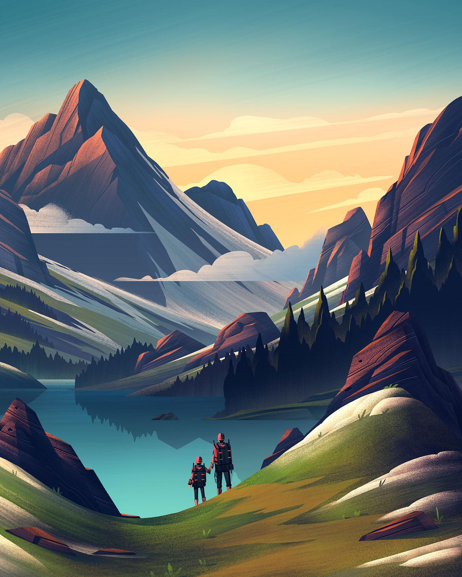 """Legacy of Adventure"" · Final Illustration"