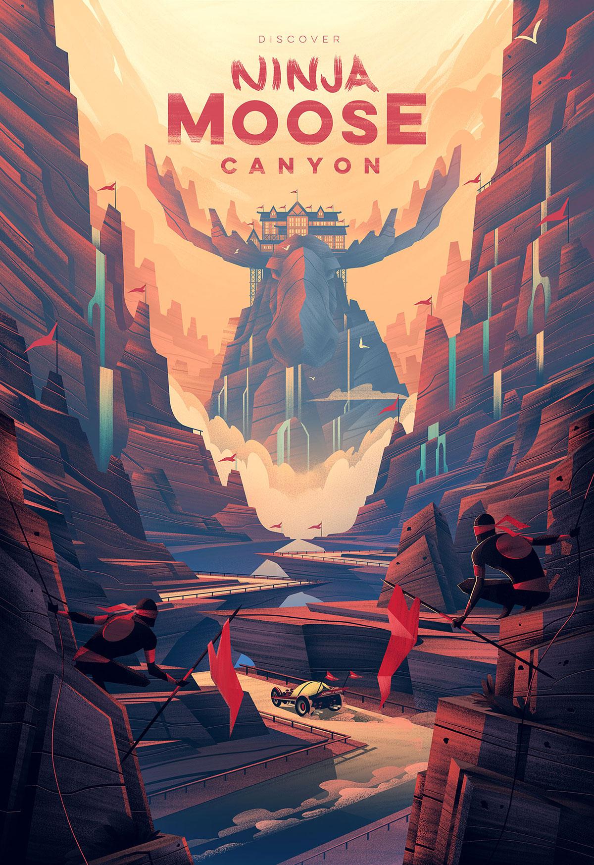 Ninja Moose Canyon · Final Poster · Radio Flyer