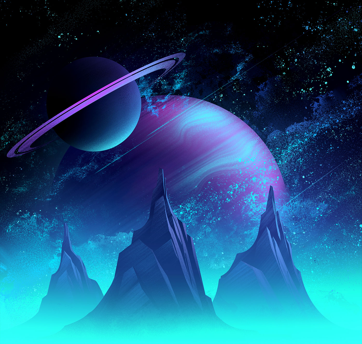Space Park  · Background Painting