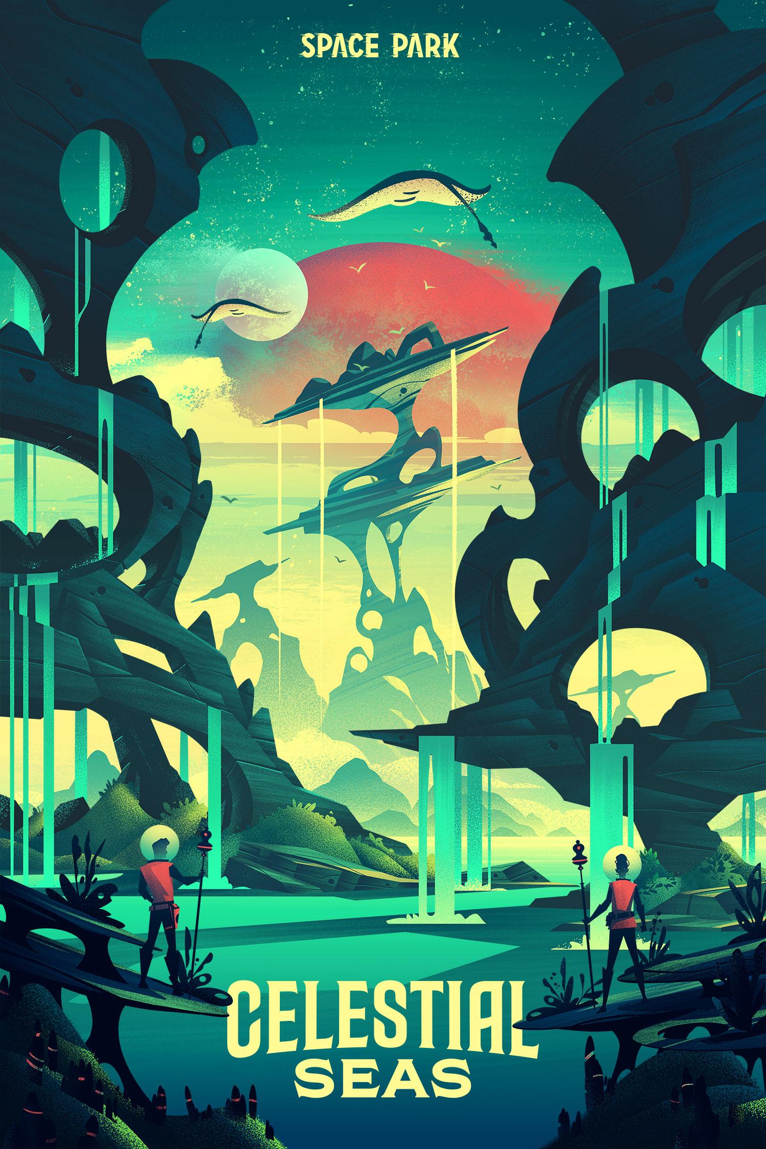 Space Park  · Celestial Seas · Type by Mattox Shuler