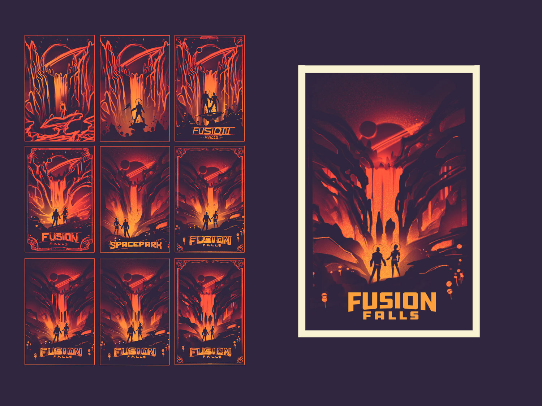 Space Park · Fusion Falls · Concept Sketches