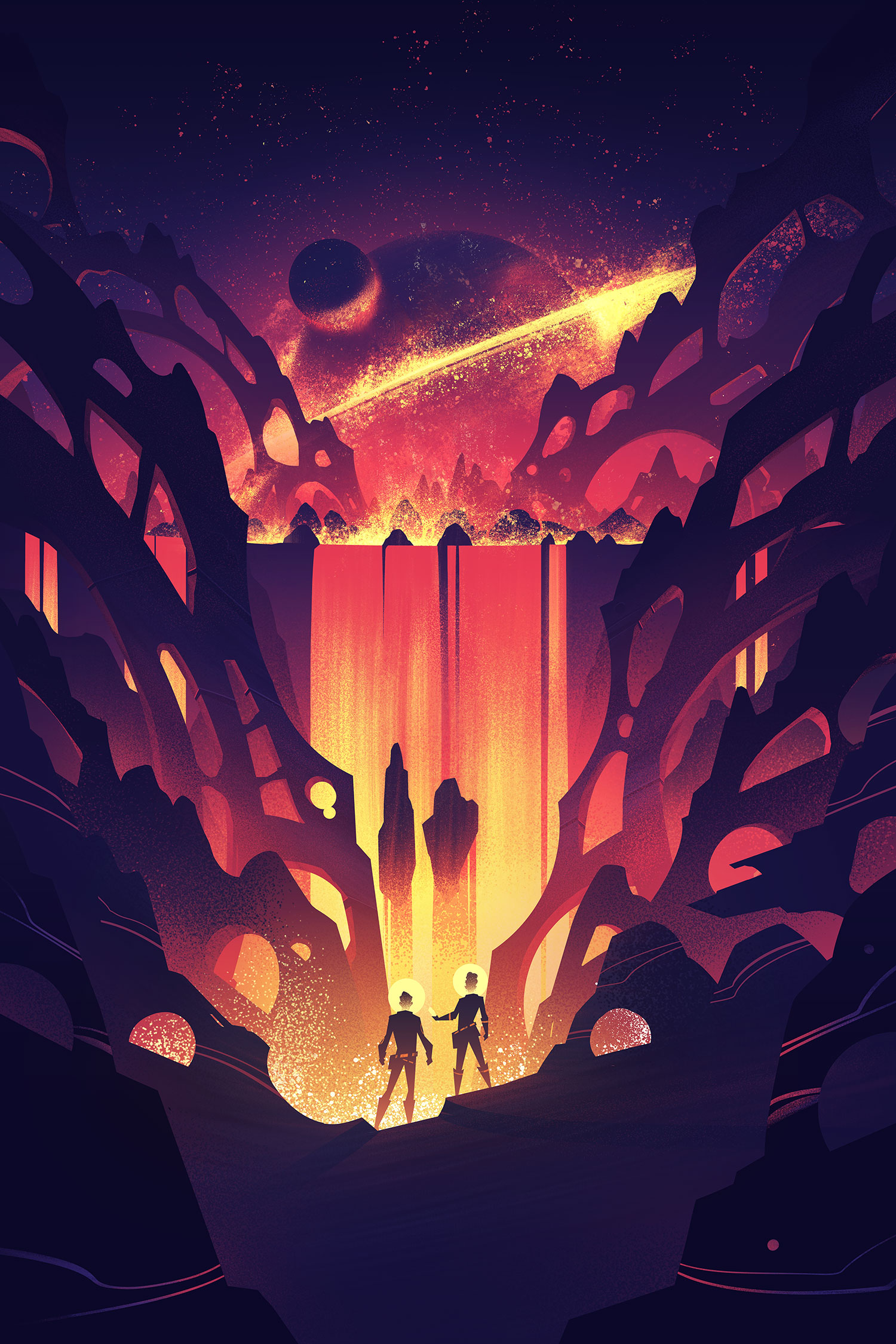 Space Park  ·  Fusion Falls  · Final Illustration