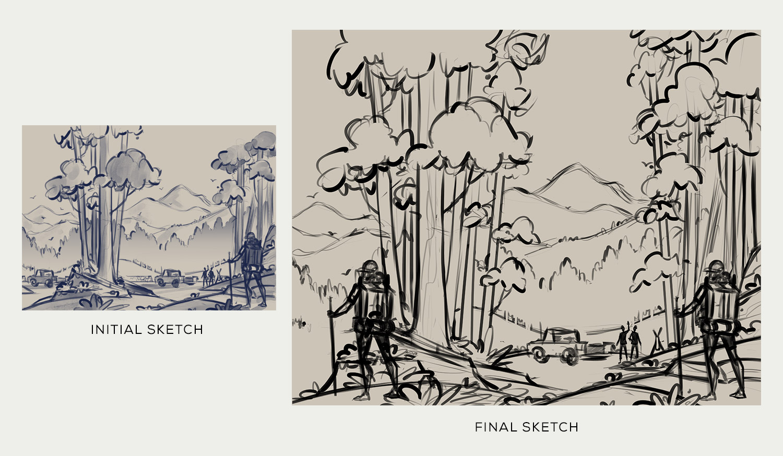 Devils Backbone Brewing Co.  · Trail Angel Sketches