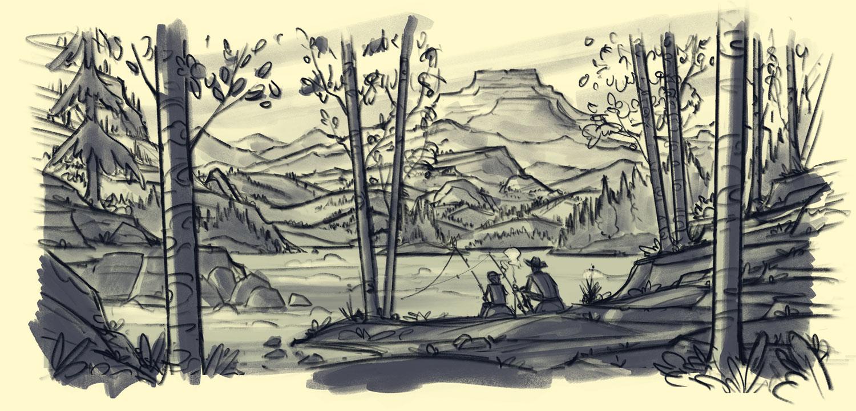 Popgun Summers  · Rough Sketch