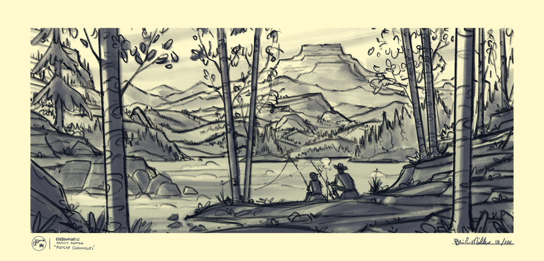 Popgun Summers  · Framed Sketch