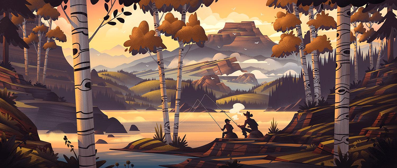 Popgun Summers  · Final Color Illustration