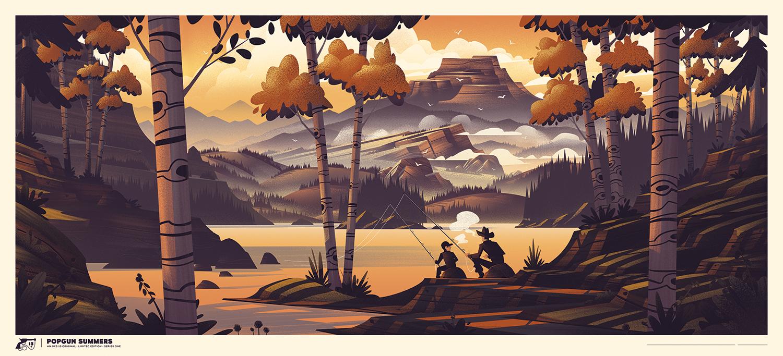 Popgun Summers Screen Print ·  Available at    OCS13.com