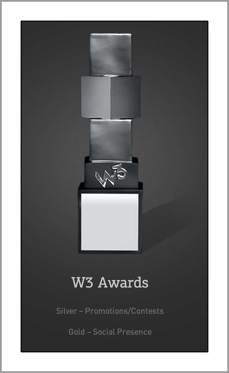2013 W3   - Gold: Social Presence - Silver: Promotions/Contests