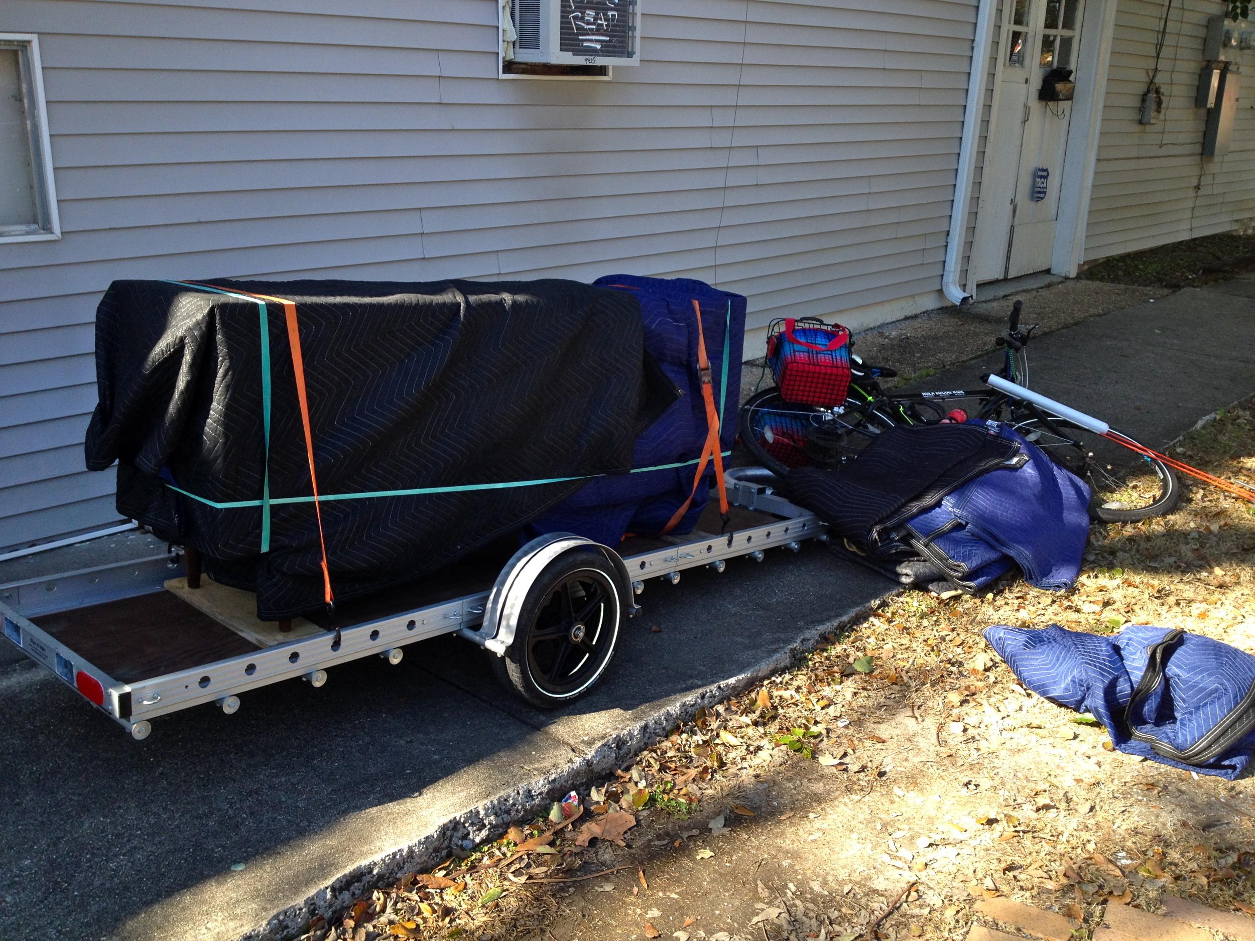 Dresser loaded on trailer.