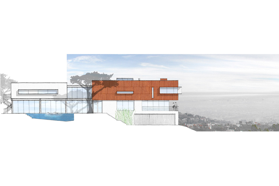 blue jay way residence: modern architecture in hollywood hills los angeles 9