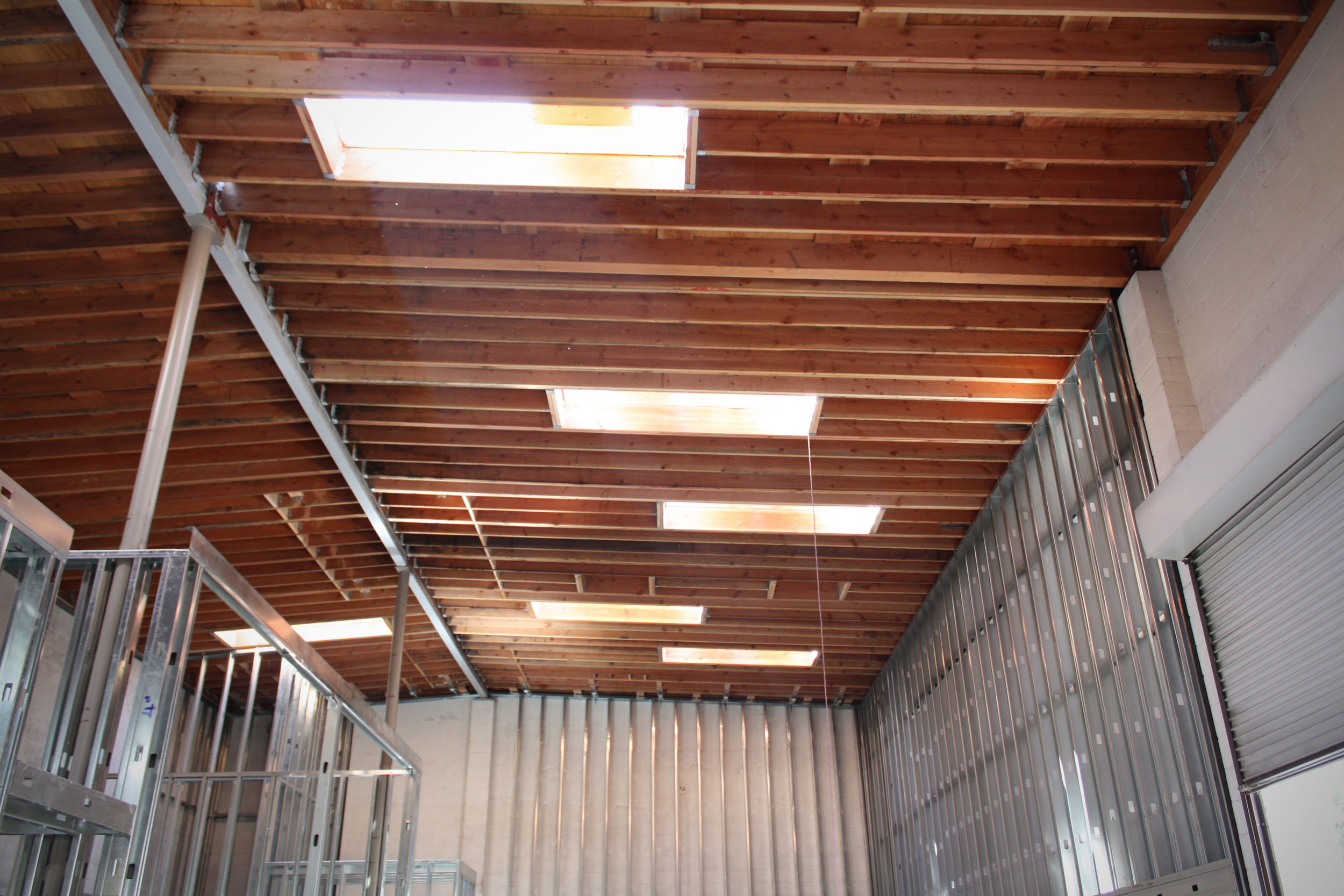New skylights bring ample light into the space.