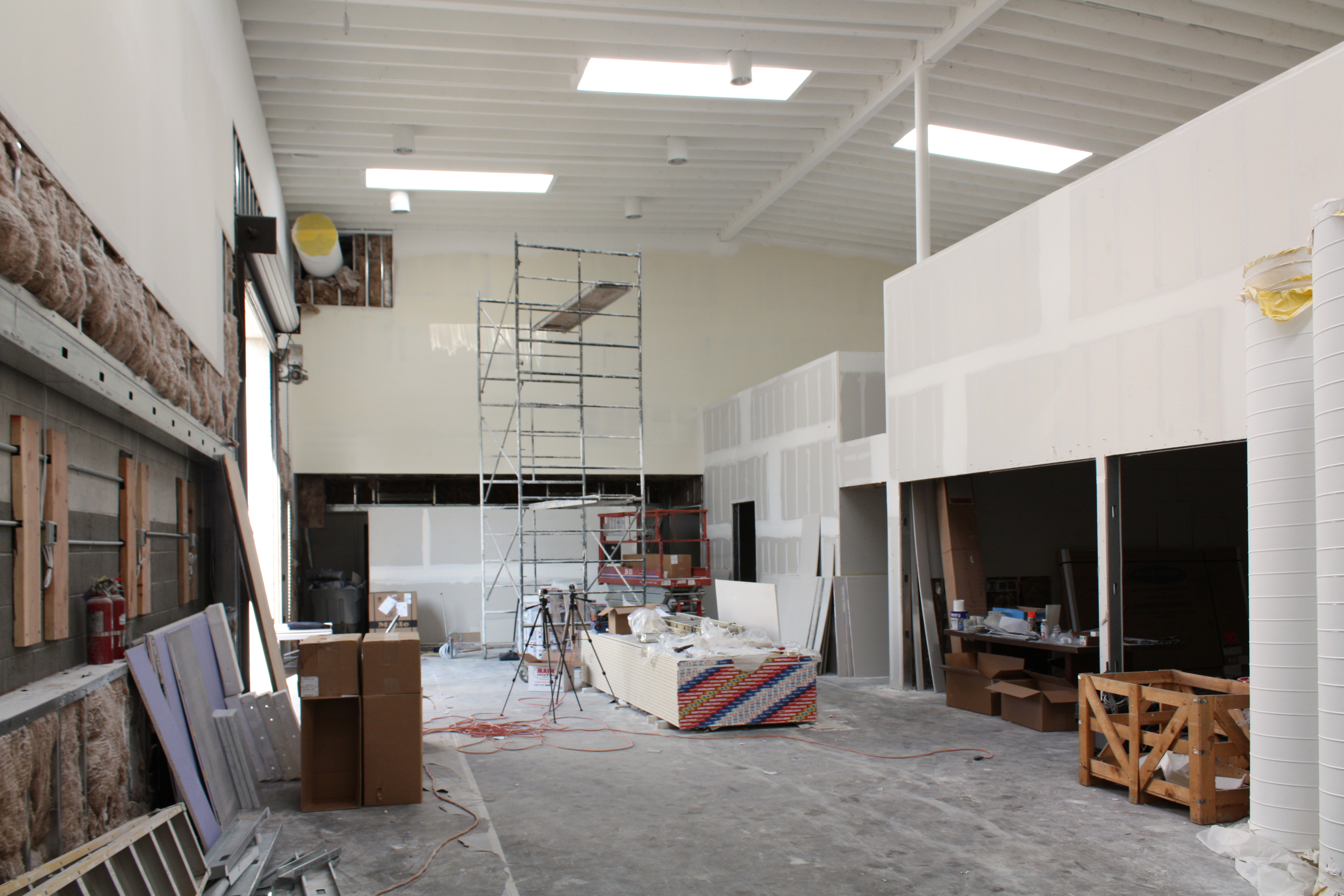 Training room main space with conference room on the right.