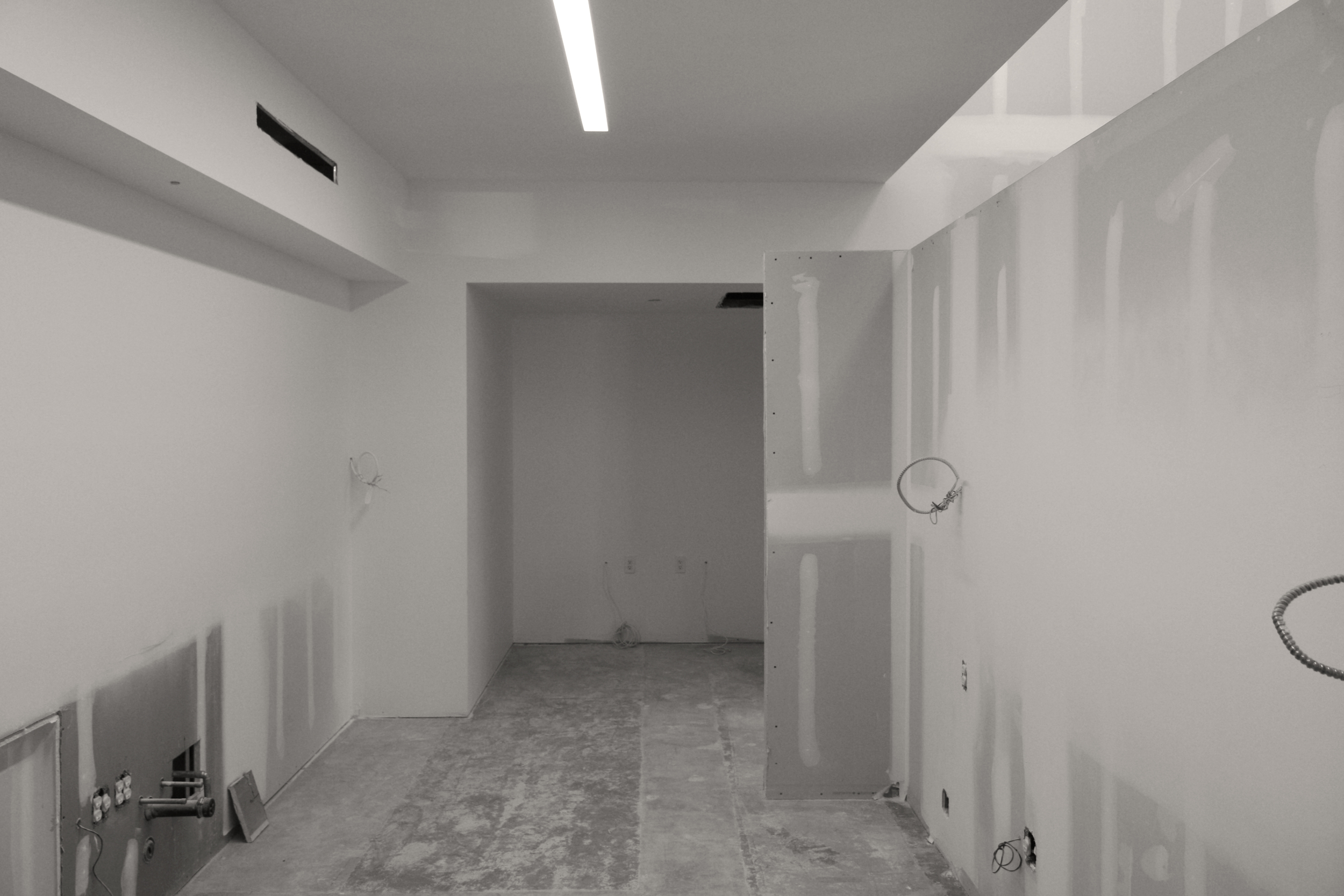 The kitchen space will feature an integrated seating nook at the rear wall.