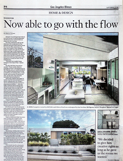 "Los Angeles Times  July 14, 2019  ""Now Able to Go With the Flow"" by Emily Young  Project Feature: Corner Pocket House   read more"