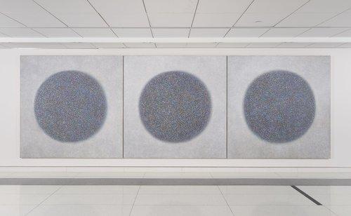 "Richard Pousette-Dart   Presence, Healing Circles , 1973-74  Acrylic on canvas, 84"" x 84"""