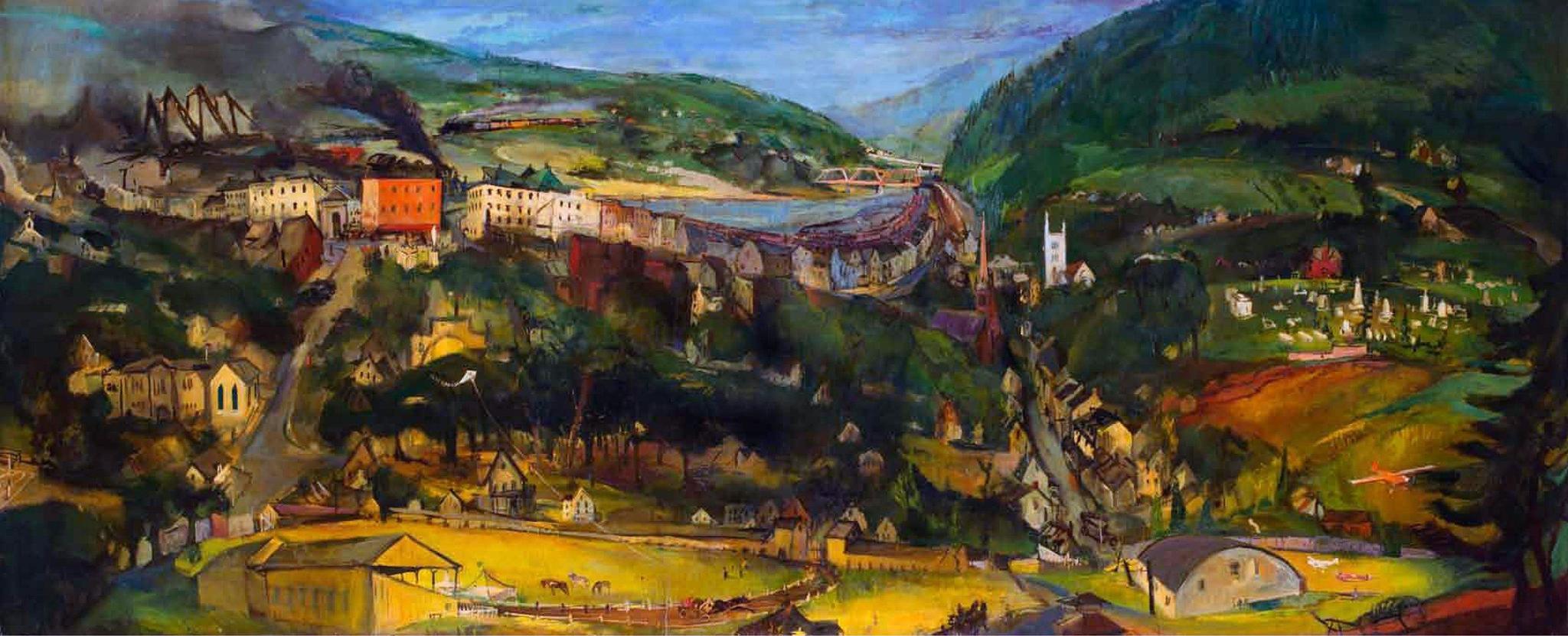 Franz Kline View of Lehighton