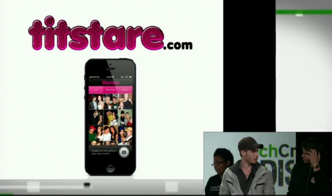 Screenshot of live demo at TCDisrupt