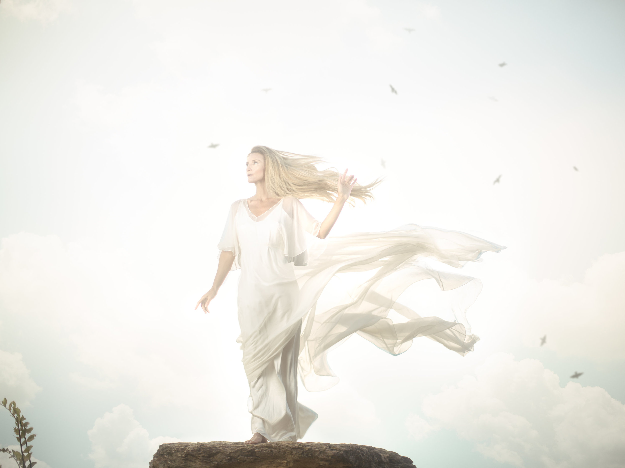 Wow. The Power of Wind  She lifts her hand and the birds cast flight. The operators of the heavens arise. From sea breeze gusts to hurricane power, this element will always circulate power. Arise and honor her strength, for she is the one who catches your dreams.