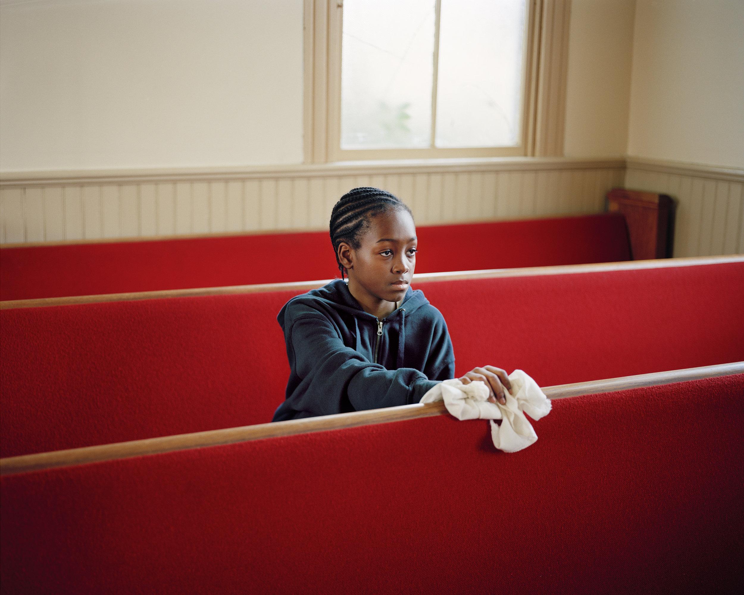 Young Boy Cleaning Church, VA,