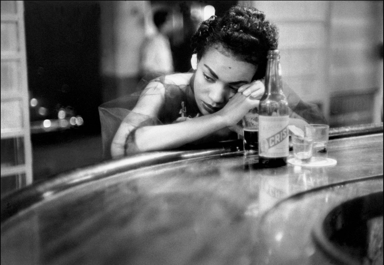 Bar Girl in a Brothel in the Red-Light District, Havana, Cuba, 1954