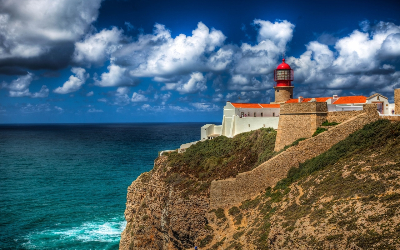 Lighthouse at Cape St. Vincent, next to the Sagres Point