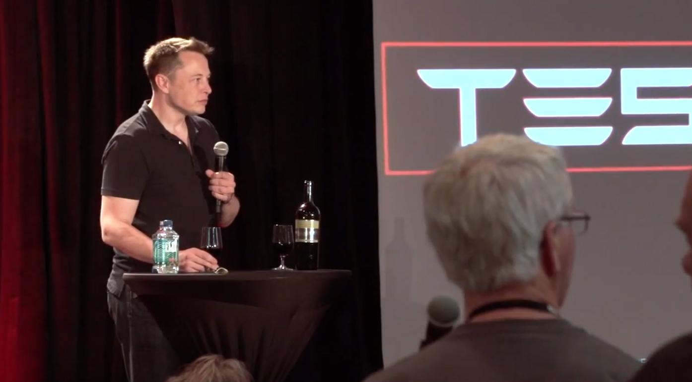 Elon Musk with Petrified Forest Vineyards 2010 Cabarnet
