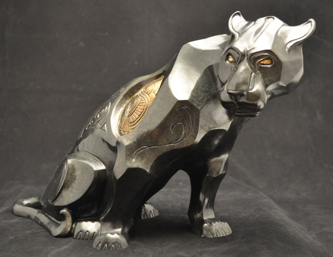Bronze Panther Sculpture by John Maisano