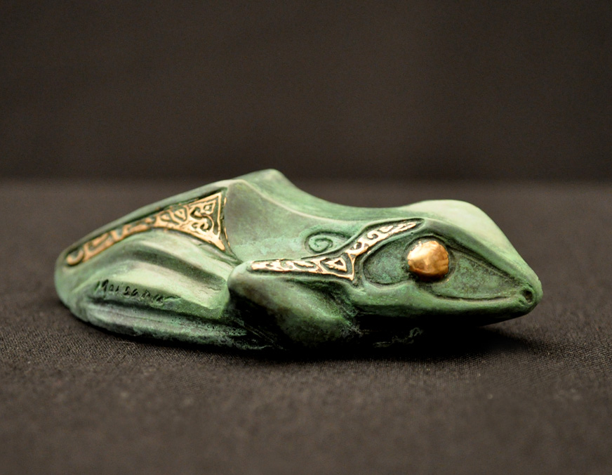 Bronze Frog Sculpture by John Maisano