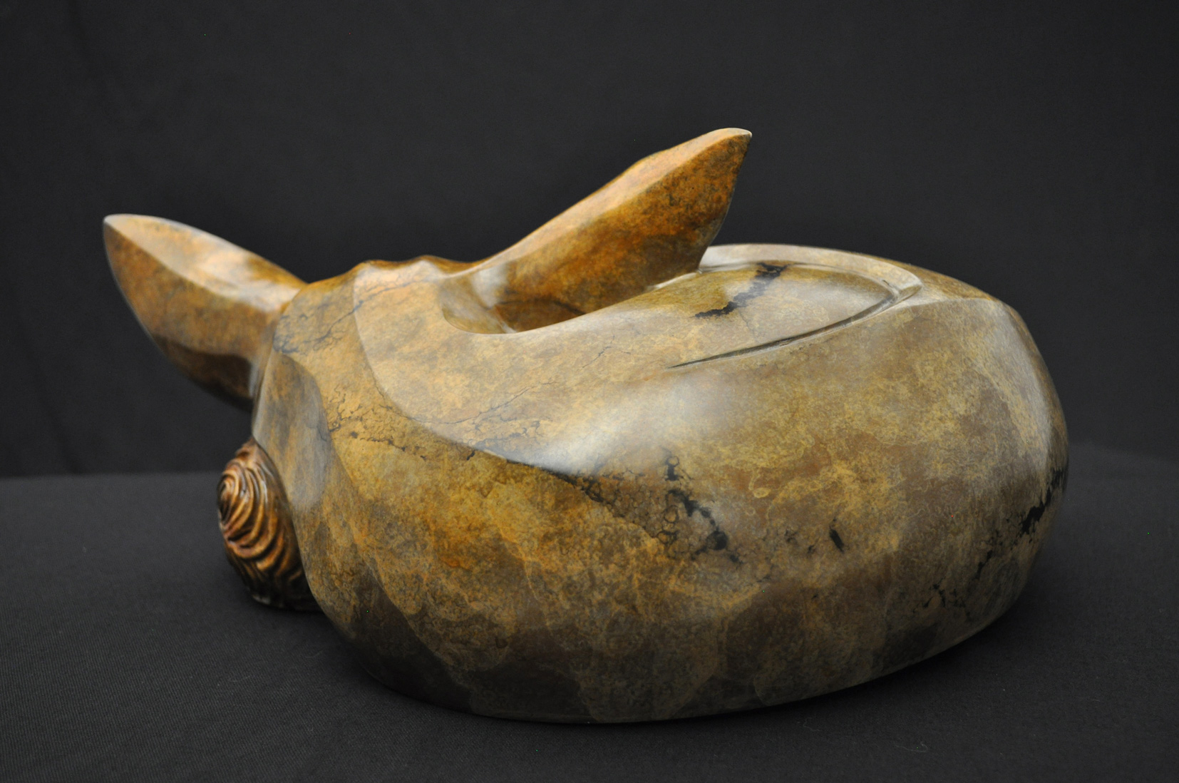 Bronze Fennec Fox Sculpture by Artist John Maisano