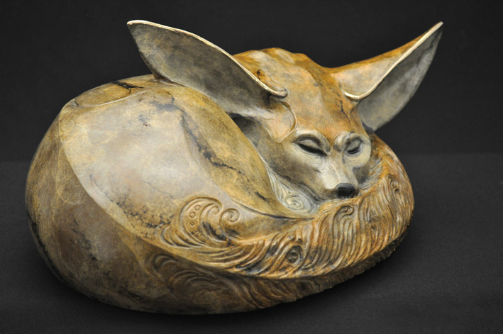 Fennec Fox Bronze Sculpture by John Maisano