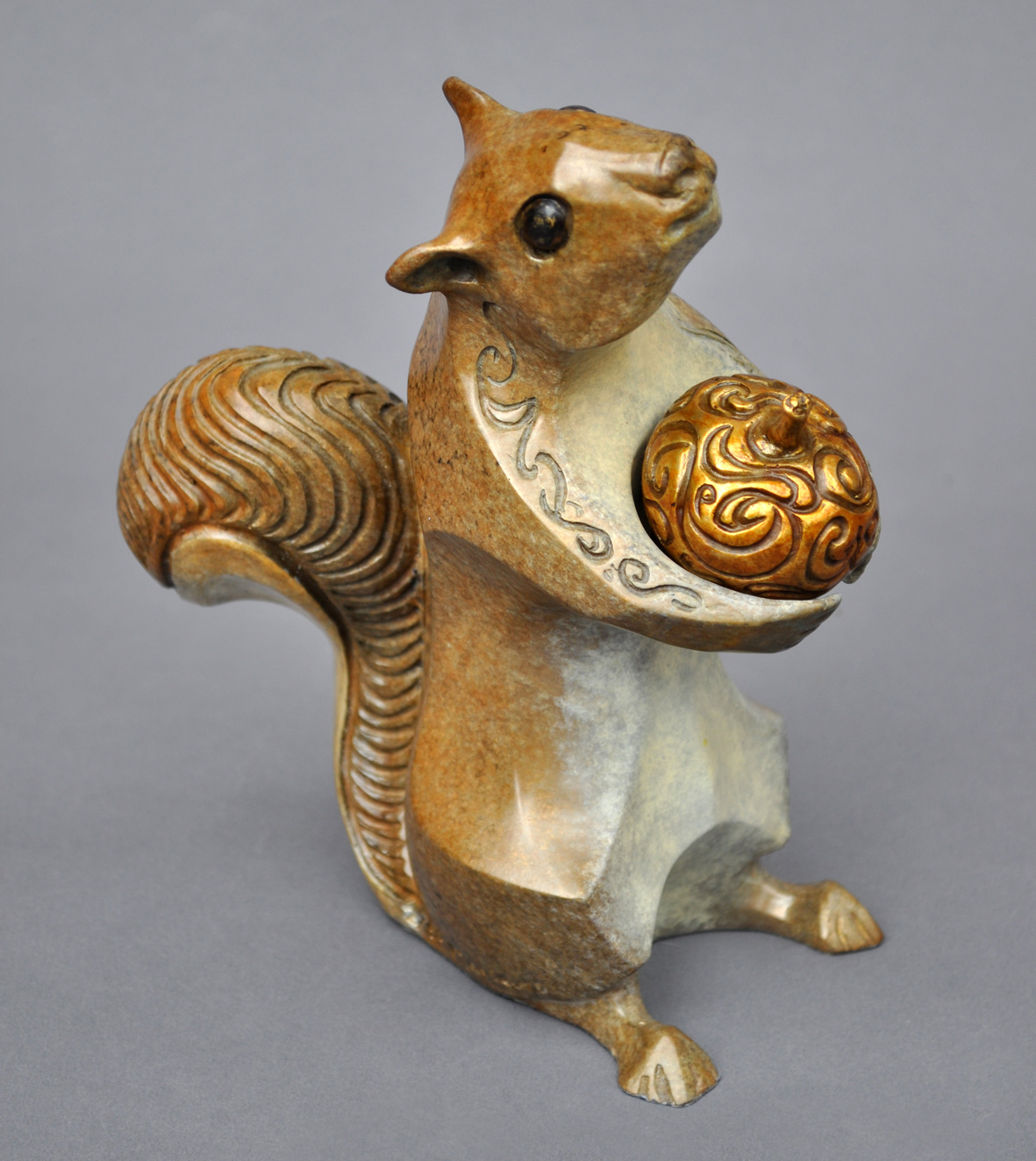 bronze squirrel sculpture john maisano 2
