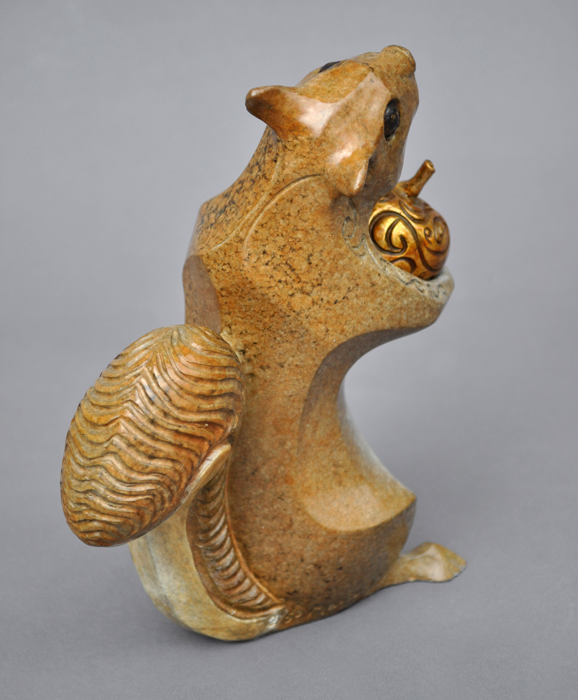bronze squirrel sculpture john maisano 3