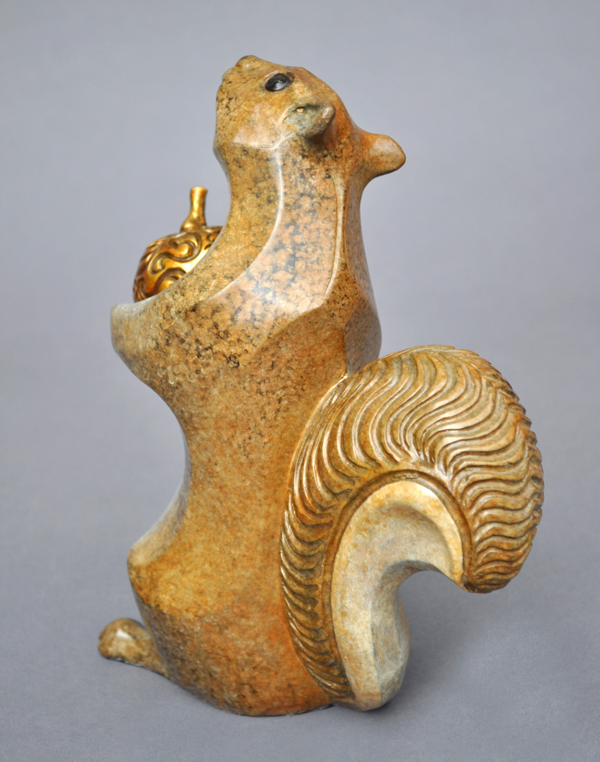 bronze squirrel sculpture john maisano 4