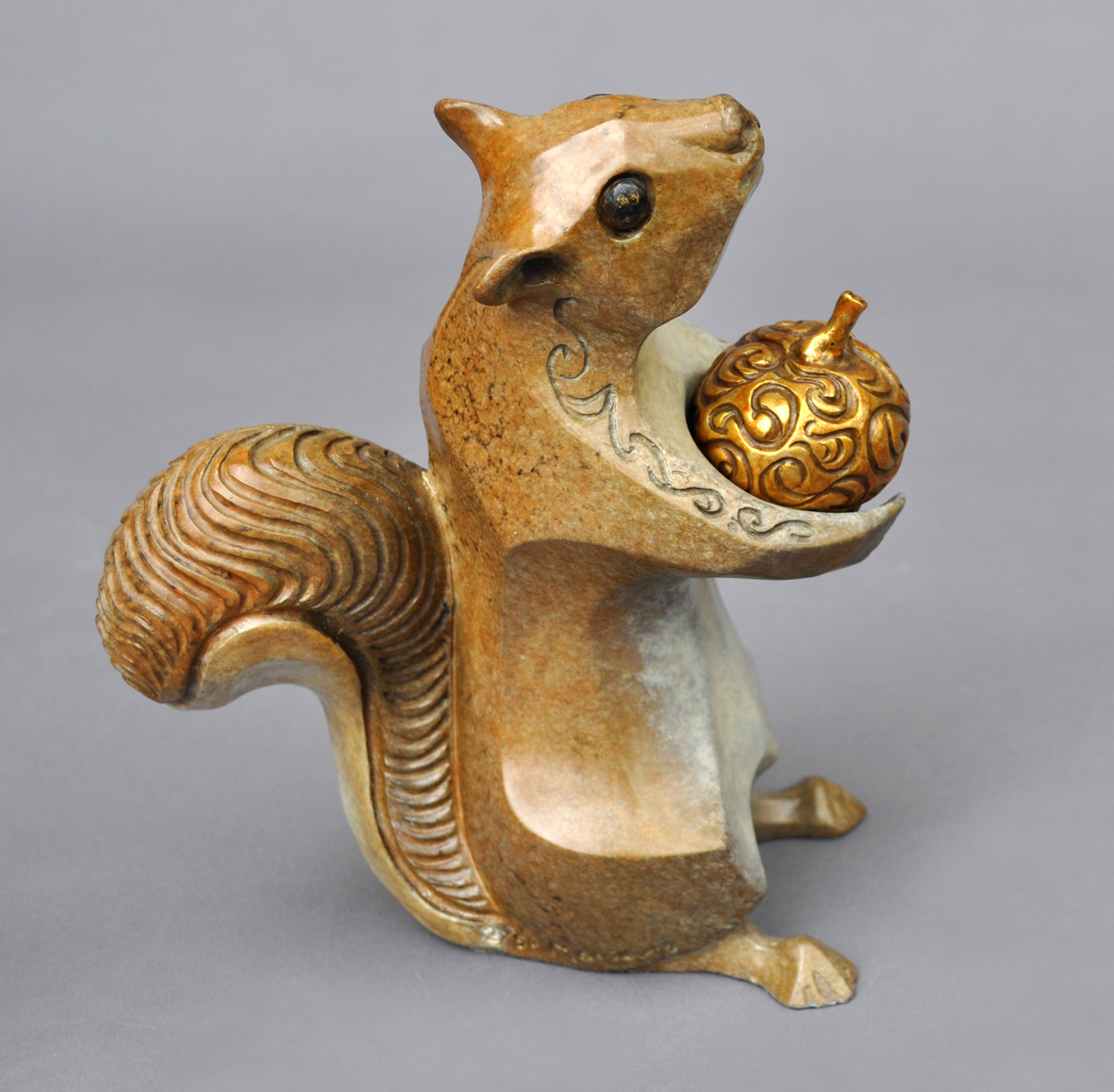 bronze squirrel sculpture john maisano 9