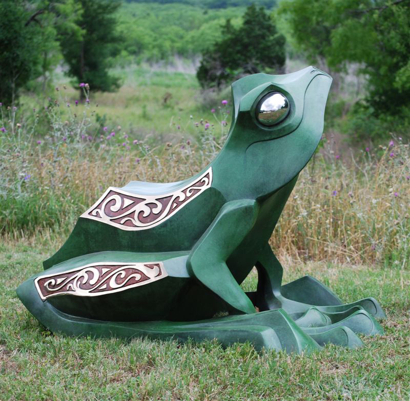 Frog Bronze Sculpture by John Maisano
